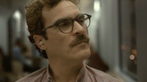 Joaquin Phoenix (Theodore Twombly) contemplates how he got this role.