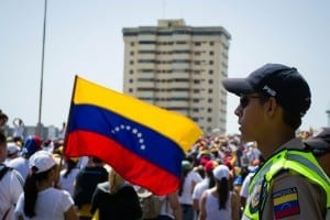 Demonstrators gather in Caracas