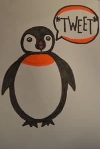 "Penguin goes ""Tweet."" / Destiny Kaus"