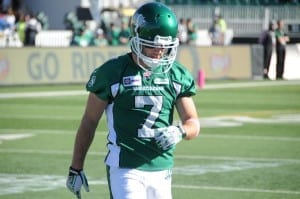 Don't worry Wes! Darian will be back soon./Courtesy of the Saskatchewan Roughriders