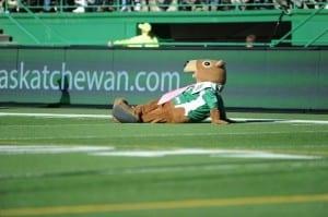Gainer was floored hearing Peter's playoff predictions/Courtesy of the Saskatchewan Roughriders