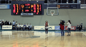 When shooting a half-court shot, make sure you have a good running start./Haley Klassen