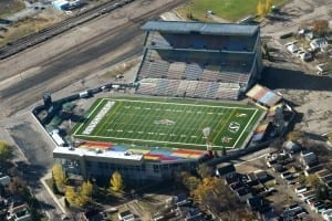 Not much of a looker, Mosaic Stadium has a storied history./Daniel Paquet