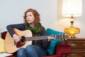 Former U of R student with an awesome guitar./ Kristin MacPherson