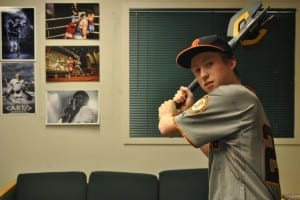 Going yard in The Carillon office/Brady Lang
