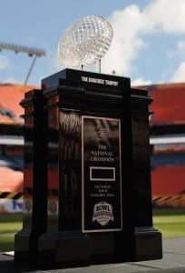 Look at this beautiful trophy! How could the NCAA possibly go away from the BCS?/Nikonmadness