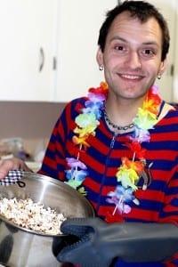 Mmm popcorn. Om nom nom nom. / LP Hoopla