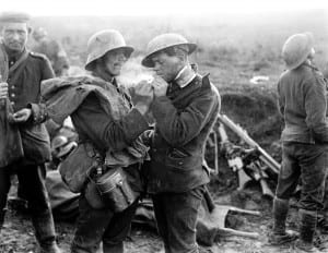 A moment of touching humanity before killing each other again./ Lt. Thomas A. Aitken
