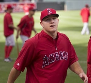 It's Mike Trout's world, and we're just living in it./Keith Allison