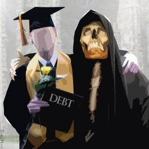 That awkward moment when your faces melts off from student debt.../Brett Nielsen