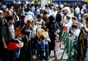 Syrian refugees arriving in Germany - Reuters