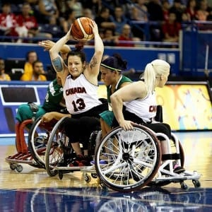 """No! You are not taking this one away, it's mine.""/ Wheelchair Basketball Canada"