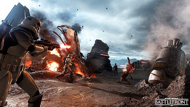 Battlefront is a very nice (looking) game by electronic arts