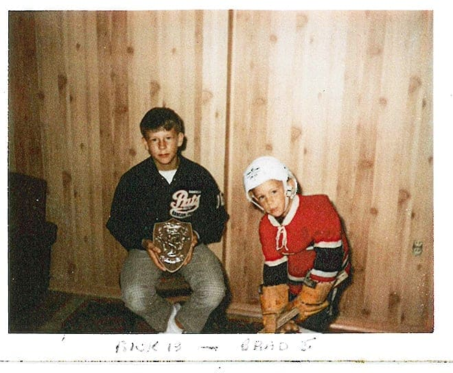 Rick and Brad Uhrich in their childhood years./Photo courtesy of the Uhrich family