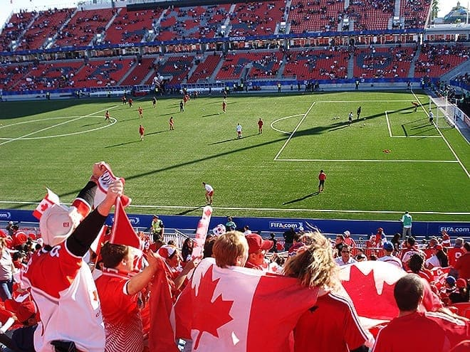 Oh Canada, we stand on the pitch for thee!/ marktci via Flickr