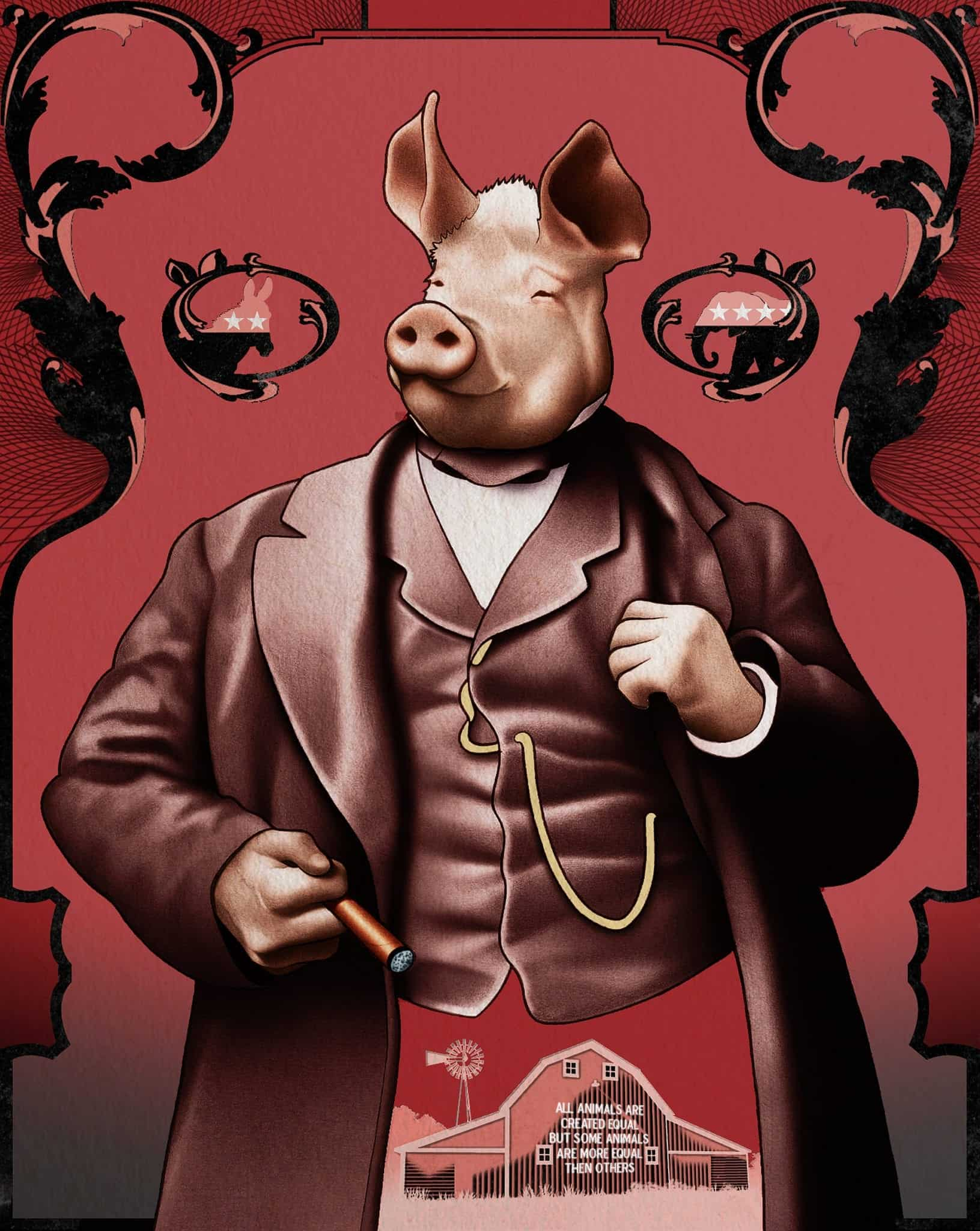 napoleon animal farm notes chapter by Revise and learn about the themes of george orwell's animal farm with bbc  bitesize gcse english literature  evidence, analysis  napoleon uses  squealer and the dogs to stop the animals' questions about the windmill  plot  summary.