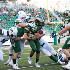 Rams win first game at New Mosaic Stadium