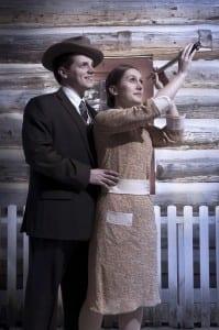 Josh Ramsden (left) and Lauren Holfeuer (right) star gaze.