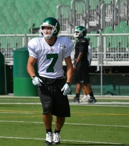 He's Back - Courtesy of the Saskatchewan Roughriders