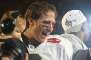 Brees couldn't have taken a more adorable picture with his son/Ian Ransley