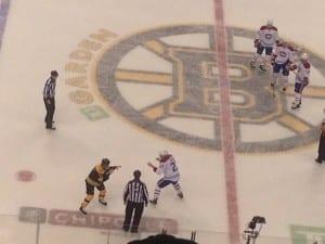 A classic Boston/Montreal throw down./Ryan Bodnarchuk