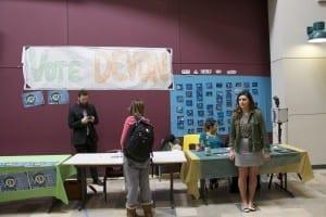 Voting takes place next week, March 16-19. Peters (far left); Zemlak (far right). / Alec Salloum