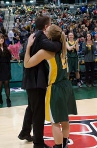 Heartfelt goodbyes to the Cougars senior players during their last home game./Arthur Ward